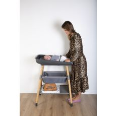 Evolux Changing Table - Natural Anthracite