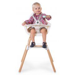Evolu 2 Kinderstoel 2 In 1 + Beugel - Naturel Wit