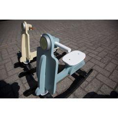 Schommel Scooter - MDF - Mint Blauw Zwart