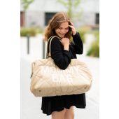 Mommy Bag Nursery Bag - Puffered - Beige
