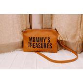 Mommy's Treasures Clutch - Lederlook Bruin