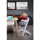 Lambda 3 Baby High Chair + Feeding Tray - Wood - White