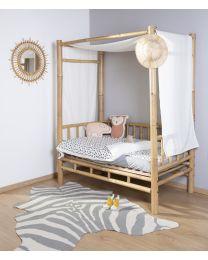 Kindertapijt Zebra - 145x160 Cm - Grijs