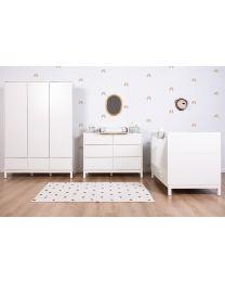 Jota White - Cot Bed - 70x140 Cm