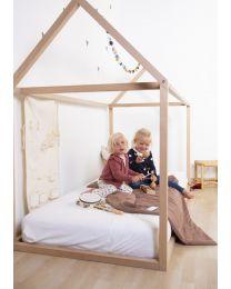 Hausbett - 90x200 Cm - Holz - Naturell