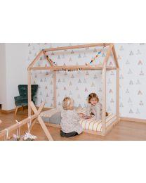 Hausbett - 70x140 Cm - Holz - Naturell