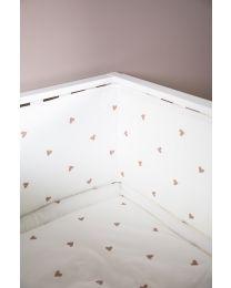 Laufgitter Schutz - 35x340 Cm - Jersey + Musselin - Hearts