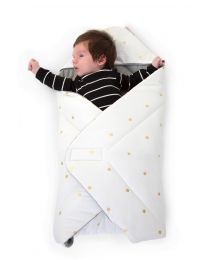 Baby Wrapper Universal - 75x75 Cm - Jersey - Gold Dots