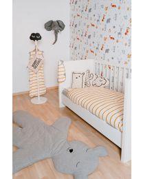 Quadro White - Cot Bed - 70x140 Cm + Slats
