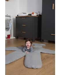 Tapis D'Éveil Teddy Bear - 150 Cm - Jersey - Gris