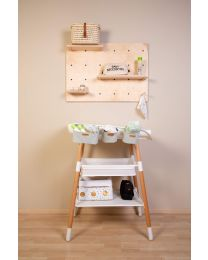 Evolux Changing Table - Natural White