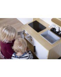 Cuisine Pour Enfants Et Accesoires - Bois - Blanc Natural