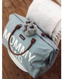 Mommy Bag Wickeltasche - Grau Cremefarben