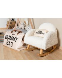 Kids Rocking Chair - Teddy - Off White Natural