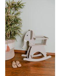 Schaukelelefant + Bügel - MDF - Grau