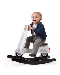 Schaukelscooter - MDF - Schwarz Weiß