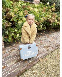 Mini Traveller Kinderkoffer - Grijs Ecru