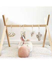 Tipi Play Baby Gym - Holz - Naturell