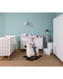 Retro Rio White - Cot Bed - 70x140 Cm + Slats