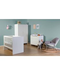 Quadro White - Kids Wardrobe - 2 Doors + Drawer