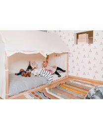 Bed Frame House Cover - 90x200 Cm - White