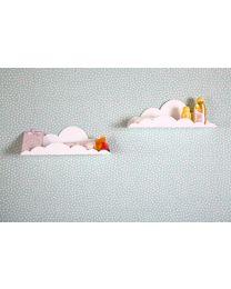 Wall Shelf Cloud - Metal - White