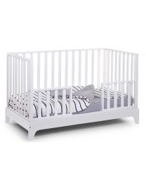 Cot Bed Ref 17 + Frame - 70x140 Cm - MDF Wood - White