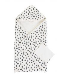Bath Cape + Face Cloth - 80x80 Cm - Jersey - Leopard