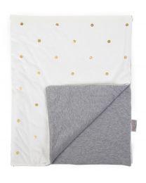 Couverture De Bébé - 80x100 Cm - Jersey - Gold Dots