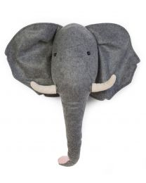 Tierkopf Elefant - Filz - Wanddekoration