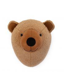 Tierkopf Teddybär - Filz - Wanddekoration