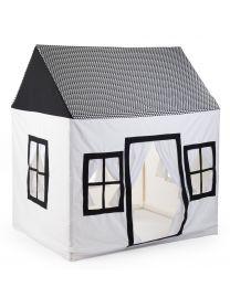Grande Maisonnette - 125x95x145 Cm - Coton Polyester - Noir Blanc