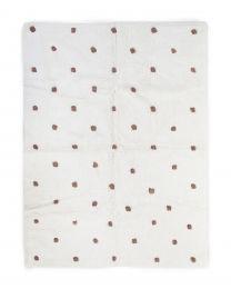 Kindertapijt Bolletjes - 120x160cm - Ecru/Roest