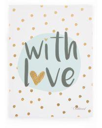 Schilderij - With Love - 30x40 Cm