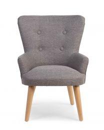 Single Child's Sofa - Polyester Wood - Grey