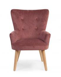 Single Child's Sofa - Polyester Wood - Bordeaux