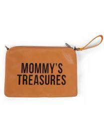 Mommy's Treasures Clutch - Lederlook Braun
