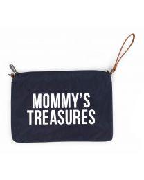 Mommy's Treasures Clutch - Navy Weiß