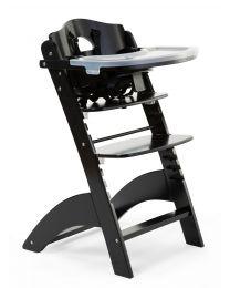 Lambda 3 Baby Kinderstoel + Eettablet - Hout - Zwart