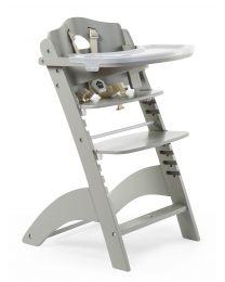 Lambda 3 Baby Kinderstoel + Eettablet - Hout - Stone Grijs