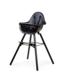 Evolu 2 Chaise Haute - Réglable En Hauteur (50-75 Cm/*90 Cm) - Noir