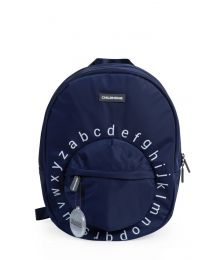 Kids School Backpack ABC - Navy White