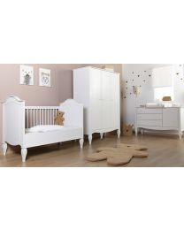 Romantic White - Chest - 3 Drawers + 1 Door + Changing Unit