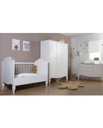 Romantic White - Kids Wardrobe - 3 Doors