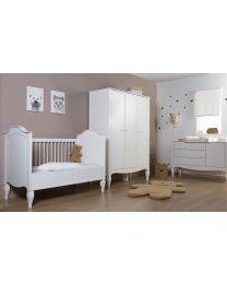 Romantic White - Armoire Chambre Bébé - 3 Portes