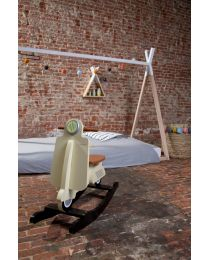 Lit Tipi Junior - 90x200 Cm - Bois - Naturel Blanc