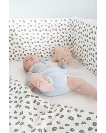 Baby Bed Ref 122 - 60x120 Cm - MDF Wood - White