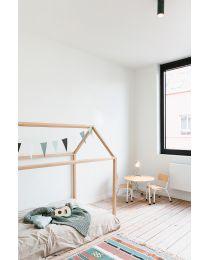 Huis Bed - 90x200 Cm - Hout - Naturel