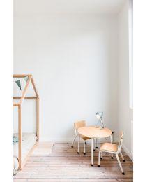 Child Chairs - Metal Wood - Natural White - 2 Pcs