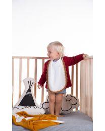 Bib - Jersey - Crochet Ecru - 2 Pcs